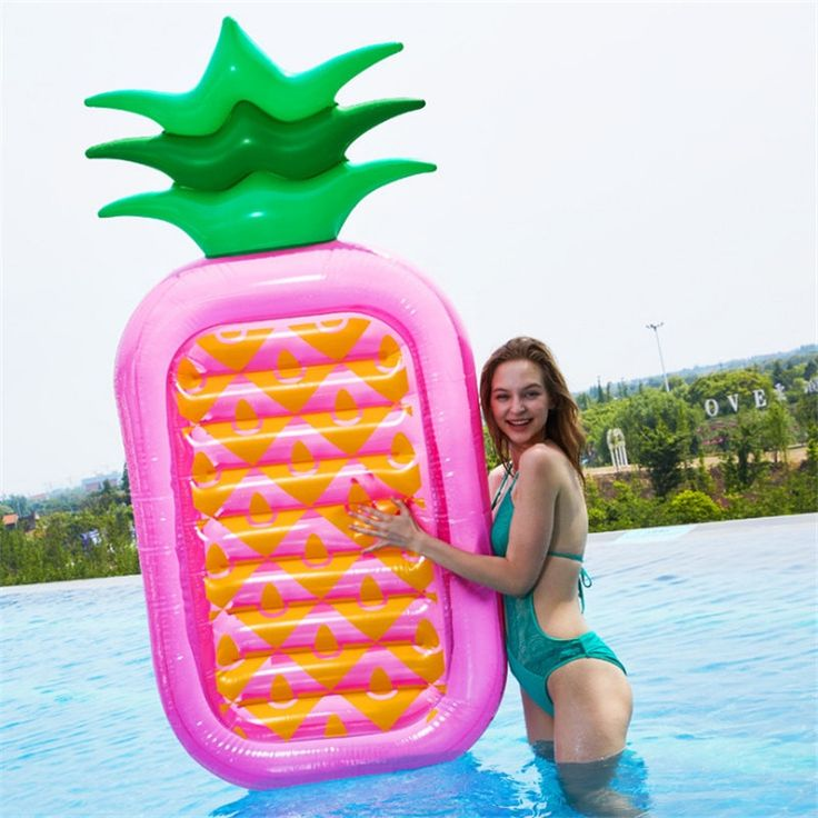 Inflatable pineapple 180 cm swimming float water pool toy inflatable swimming ring fun adult swimming air mattress