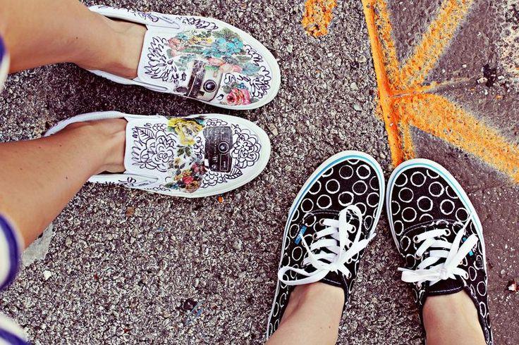 Vans DIY: Diy Vans, Colors Cores, Vans Shoes, Vans Girls, Beautiful Mess, Vans Diy, Custom Vans, Vansoffthew Vans, Diy Projects