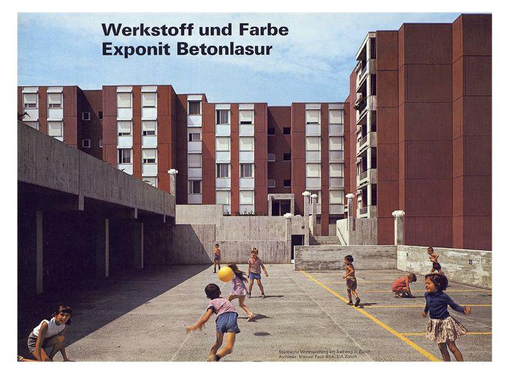 Salzweg building projectAltstetten, Zürich, Switzerland; 1969Manuel Pauli
