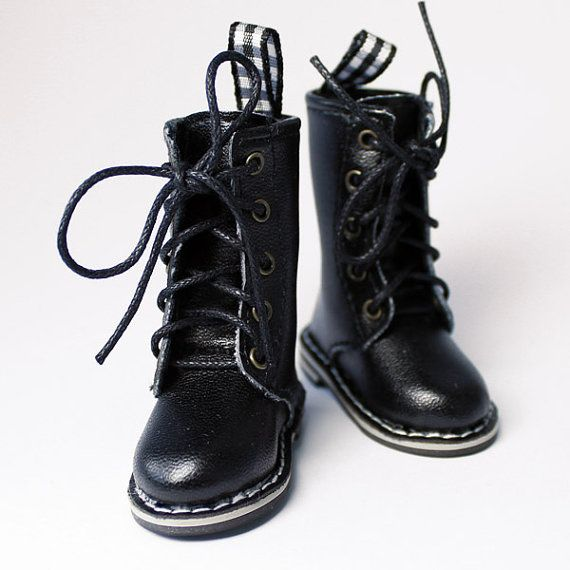 Black Dr Martens Style Boots for YOSD LittleFee Petite Ai by dollb, $25.99