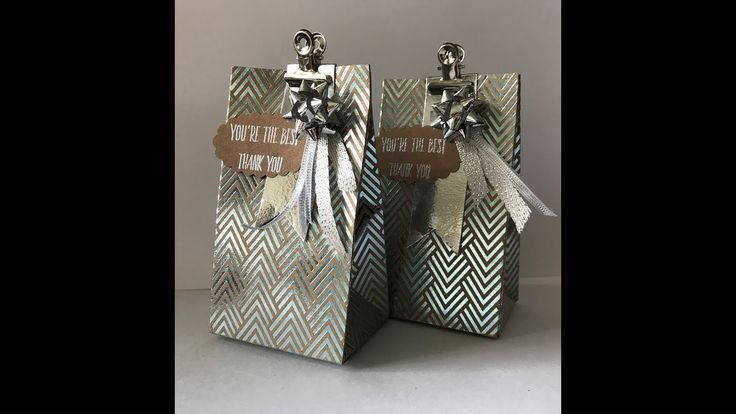Stampin'Up Foil Frenzy giftbag made with Gift Bag punch board