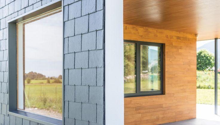 Descubre esta casa pasiva, construida usando nuestra pizarra natural y diseñada por el estudio de arquitectura Duque y Zamora | #inspiracion #arquitectura #diseño #CUPAPIZARRAS
