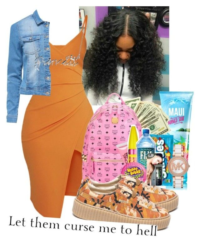 """Cash Flow"" by cravepinky ❤ liked on Polyvore featuring Pretty Little Thing, Puma, Bling Jewelry and Michael Kors"