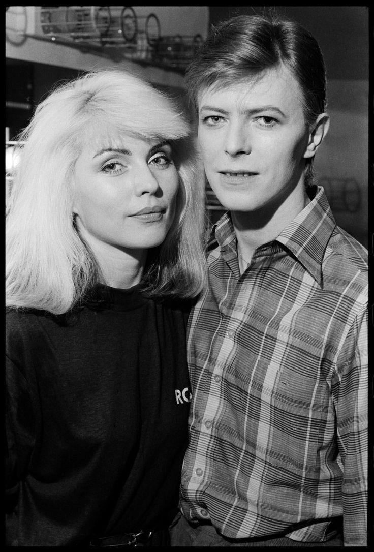 With Debbie Harry Chris Stein David Bowie Bowie