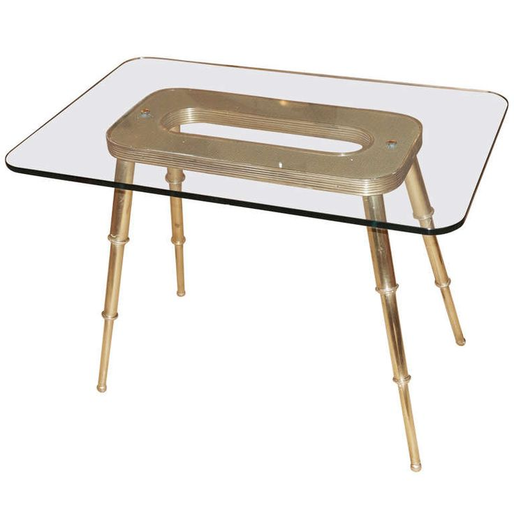 Italian Late 40s Brass Side Table | From a unique collection of antique and modern sofa tables at http://www.1stdibs.com/furniture/tables/sofa-tables/  #parlor #home #decor #design #midcentury #midcenturymodern #interior #interiordesign #interiordesigner #interiordecor #designdistrict #italian #italy #vintage #table #sidetable #endtable #brass #glass #telescope #celestial