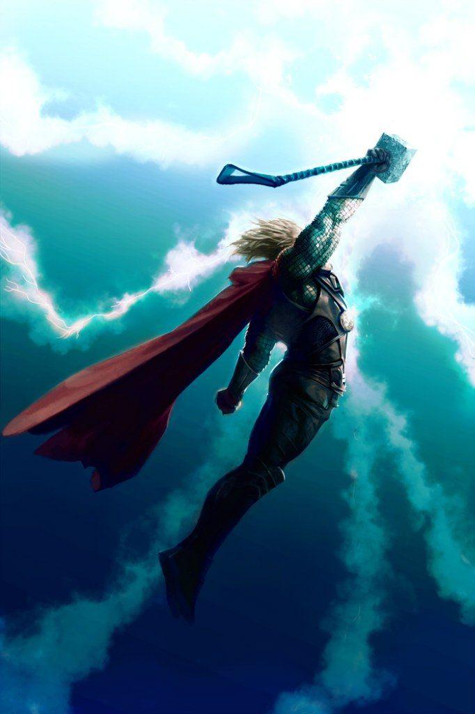 Thor going sky high.