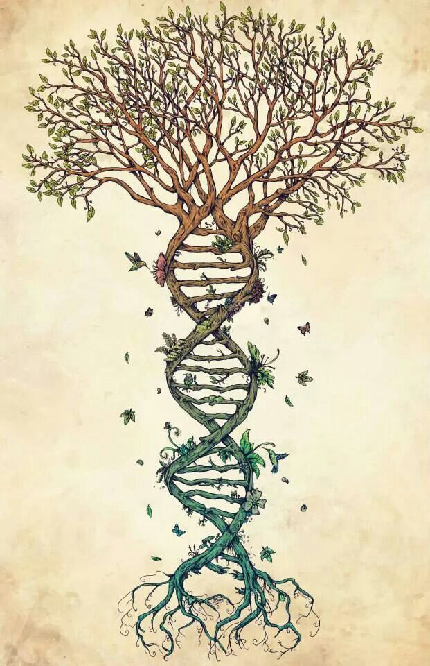 This is an awesome DNA / Nature tattoo idea!