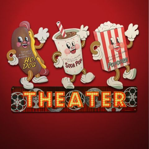 Signs Movie | Retro Movie Theater Snack Signs - Vintage Movie Graphics - Home ...