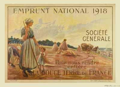 EMPRUNT NATIONAL WWI 1918 ORIGINAL POSTER