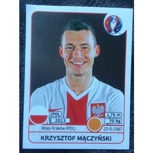 Football Soccer Sticker Panini UEFA Euro 2016 #305 Poland