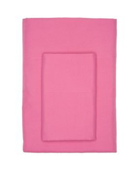 Home Accents Pink Super Soft Microfiber Solid Queen Sheet Set