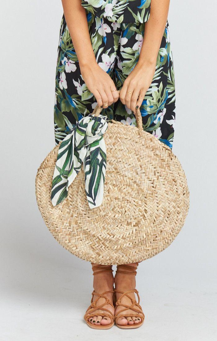 579935c9e3e1 Pamela V ~ Maria Circle Straw Bag ~ Natural