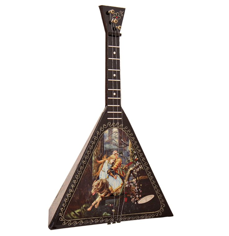 Russian balalaika with Ivan The Prince and the grey wolf