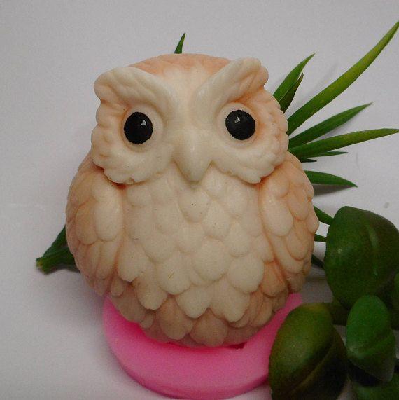 Owl soap  Little owl  Owl bird  Bird soap  Owl gift  Cute