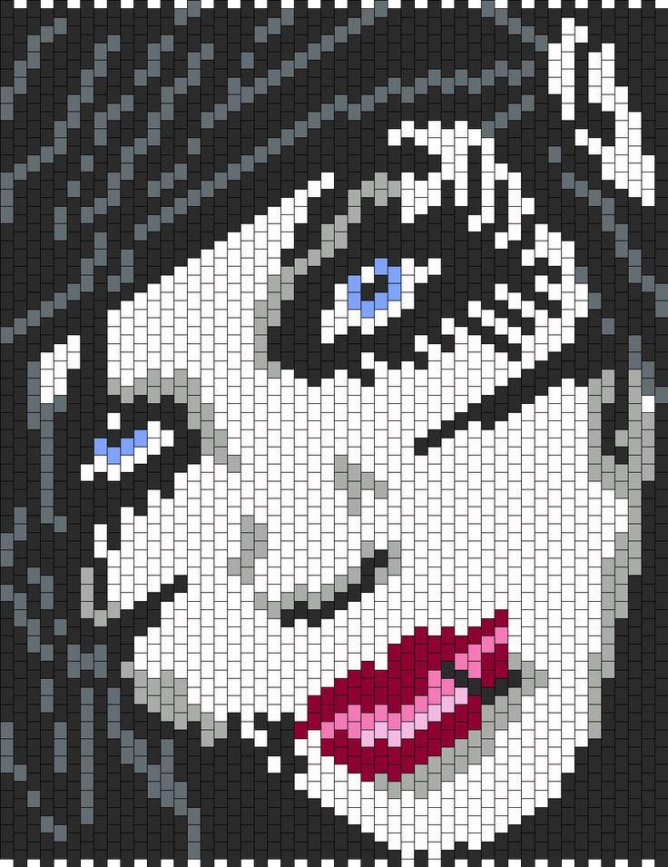 Andy Biersack From Black Veil Brides Bead Pattern | Peyote Bead Patterns | Misc Bead Patterns