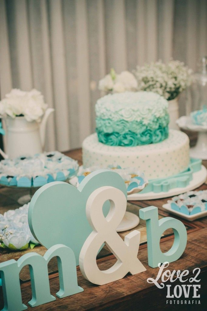 noivado azul tiffany e branco | blue and white engagement party