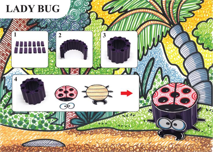 Lady Bug Craft with connector pen