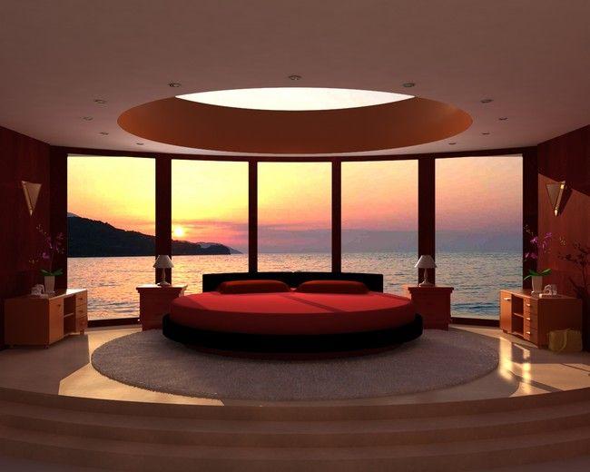 Large, circular bed
