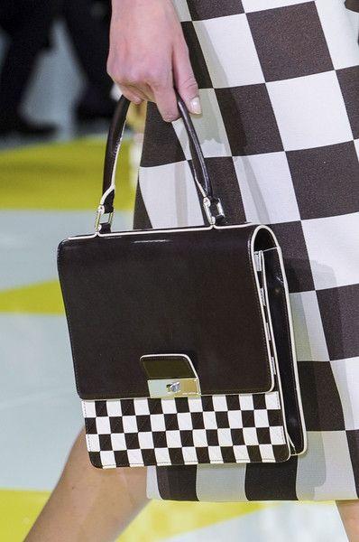 Louis Vuitton Spring 2013  Love this black & white check handbag!