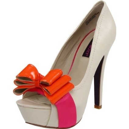 love orange w/pink: Sandals Platform Bows, Shoes Pumps, Orange Bows, Bows Heels, Pumps Orange, Mojo Moxi, Pippa Platform, Platform Pumps, Moxi Women