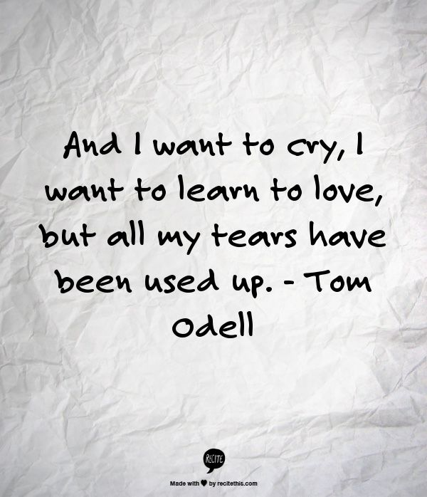Another Love - Tom OdellQuotes Enjoythelittleth, Lyrics Quotes, Quotes ...