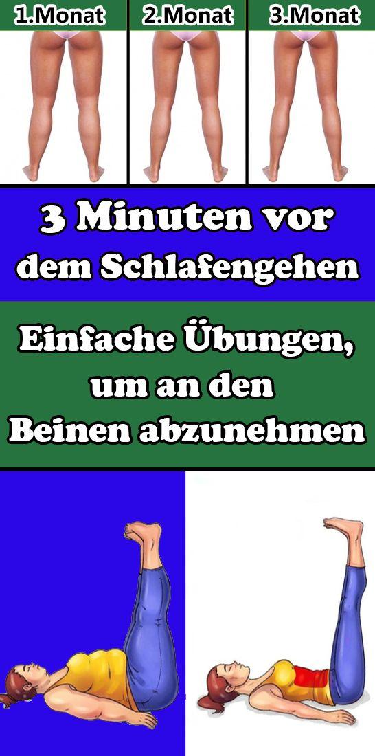 3 Minuten vor dem Schlafengehen: Einfache Übungen, um an den Beinen abzunehmen
