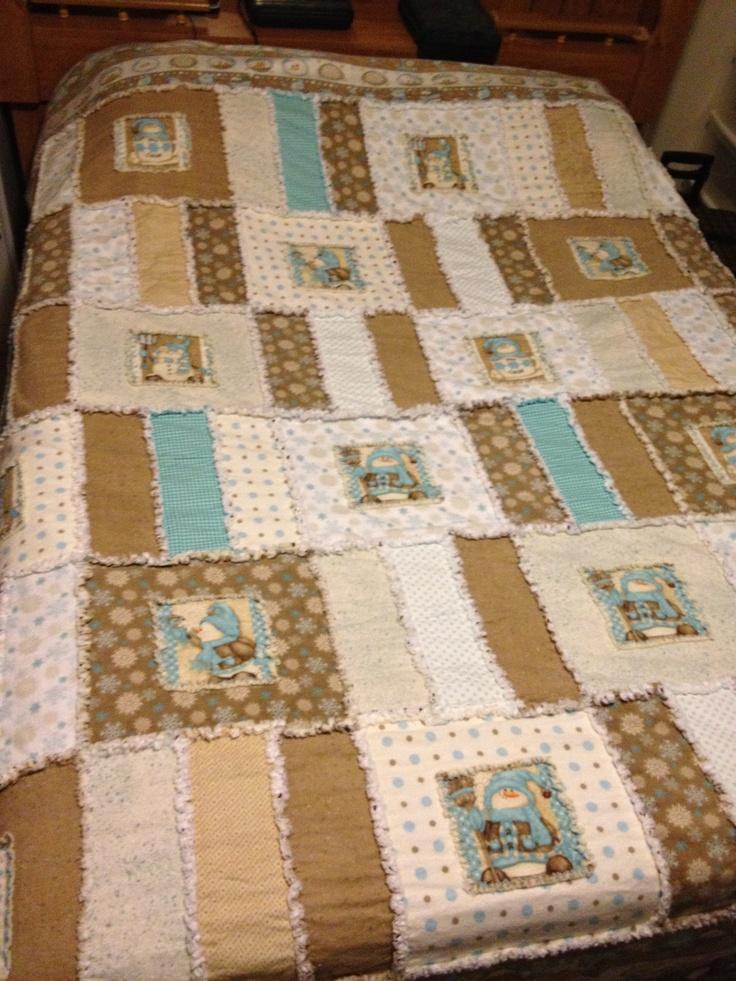 32 best rag quilts images on Pinterest | Dolls, Fun stuff and ... : snowman rag quilt pattern - Adamdwight.com