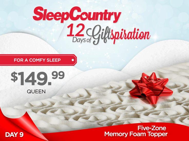 Day 9: Our Fantastic Five-Zone Memory Foam Topper!