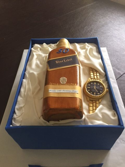 Johnnie Walker Blue Label Rolex Watch Cake Cakes