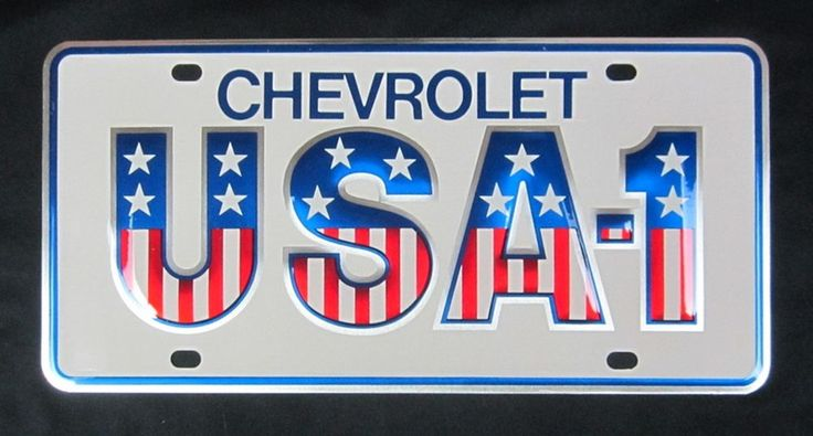 Rare NOS Vintage Dealers Plate CHEVROLET USA-1 Small Hole Aluminum