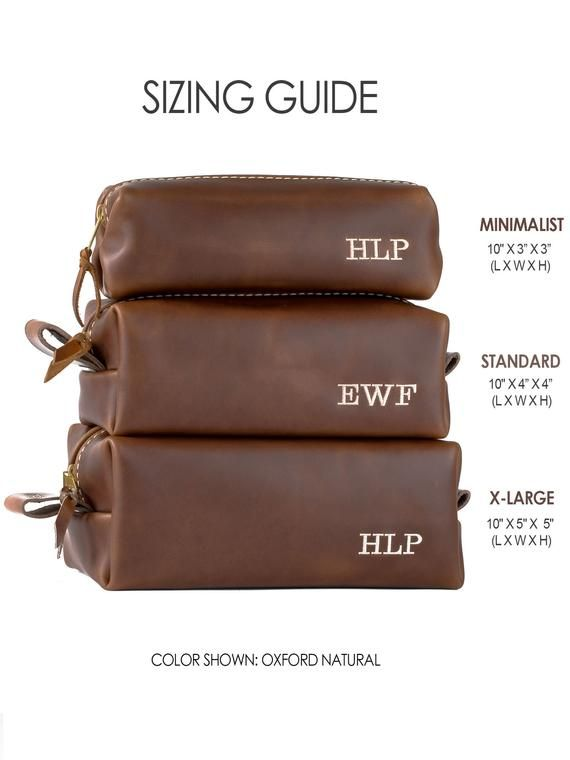 6f0cc55e1450 Leather Toiletry Bag with Monogram, Mens Toiletry Bag, Gifts for ...