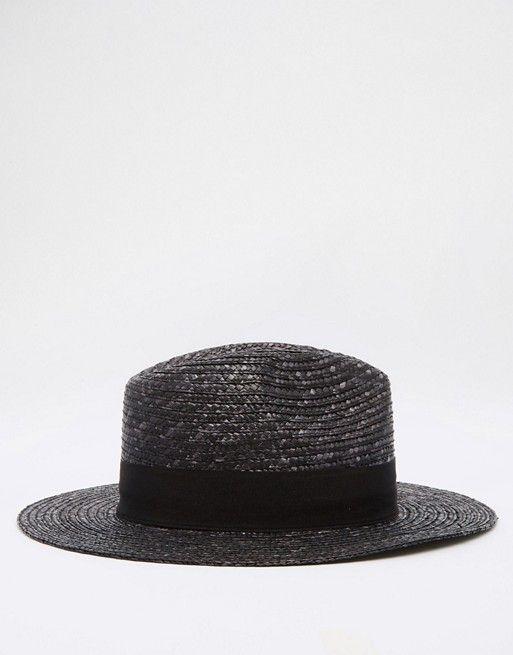 ASOS | ASOS Straw Fedora Hat In Black