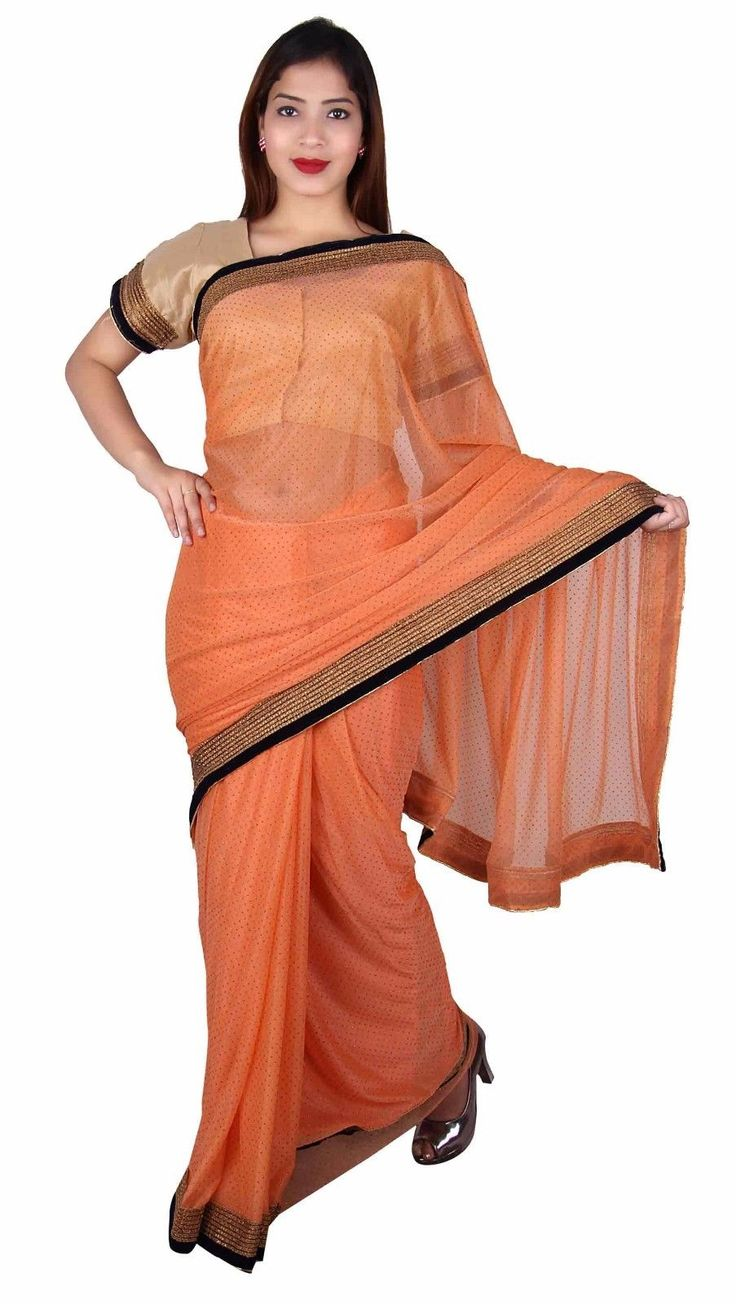 Indian Shimmer Saree With Blouse For Bollywood Theme Party Costume London 7268
