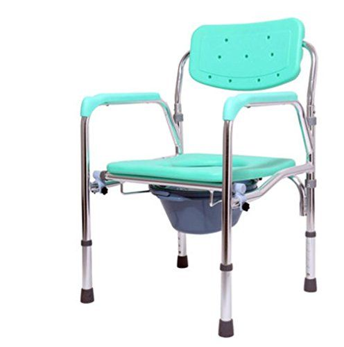 Simple Mxxyy Foldable Aluminum Alloy Wheelchair With Faeces Bucket Toilet Bathroom Chair For Elderly And Disabled