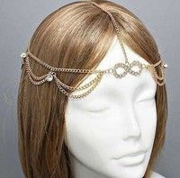 Hot aesthetic personality tassel chain headband