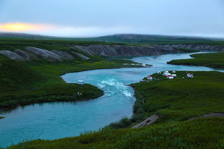 Overlooking the Tree River in Nunavut.