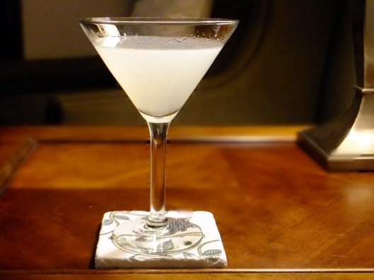 The White Lady - a simple gin cocktail with Cointreau and fresh lemon.