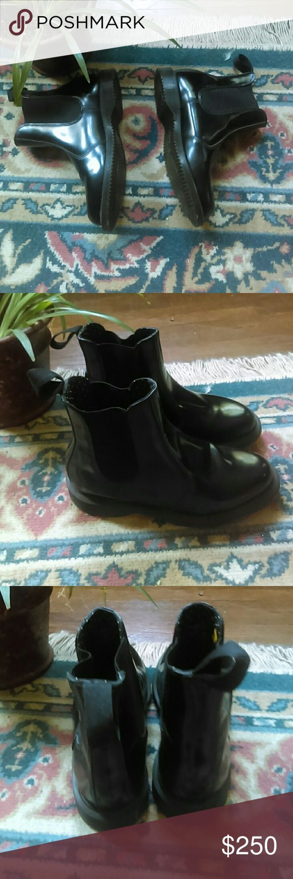 Dr Doc. Marten Black Chelsea Boots Dr. Doc. Marten Black Chelsea Boots Size Us 5L Like new theres a peice of the sole that is missing for some reason as seen in pictures but other than that they are like new!great amazing condition! Dr. Martens Shoes Winter & Rain Boots