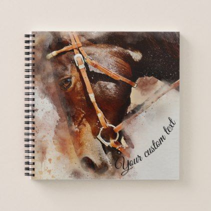 #Personalized journal horse head - #office #gifts #giftideas #business