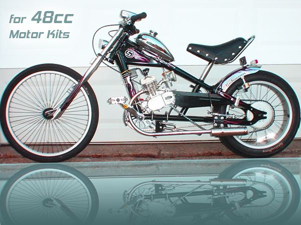 Schwinn Stingray OCC Chopper Build Out Package + 48cc 2 Cycle Center Mount Speedster Bicycle Motor Kit - Standard Clutch