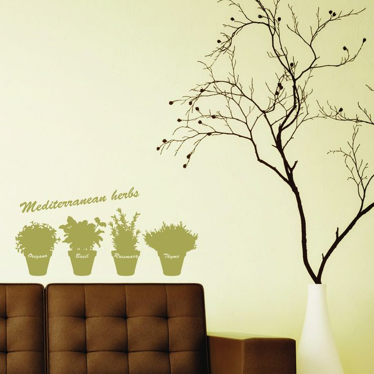 Style and Apply Mediterranean Herbs Wall Stickers