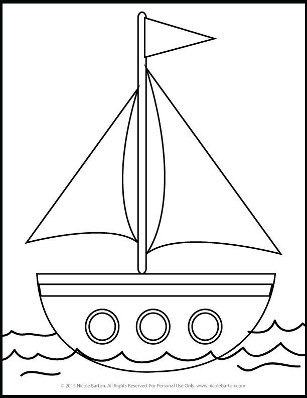 Free Sailboat Printable Coloring Pages for Kids