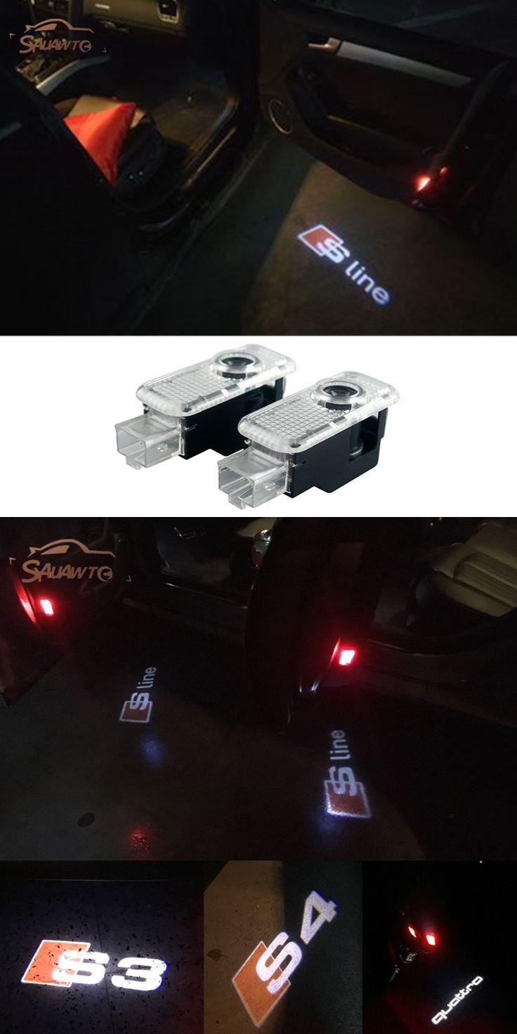 For AUDI A4 A3 A6 C5 C6 Q7 Q5 A1 A5 80 TT A8 Q3 A7 R8 RS B6 B7 B8 LED Logo Light Ghost Shadow Projector Car Door Courtesy Laser