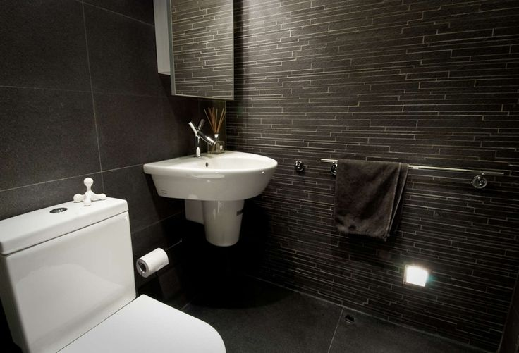 small black bathroom - Google Search