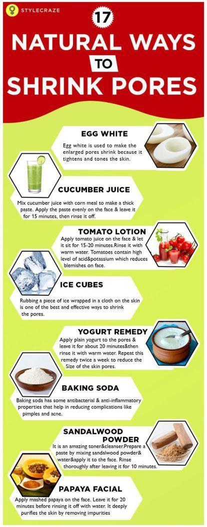 17 Natural Ways to Shrink Pores