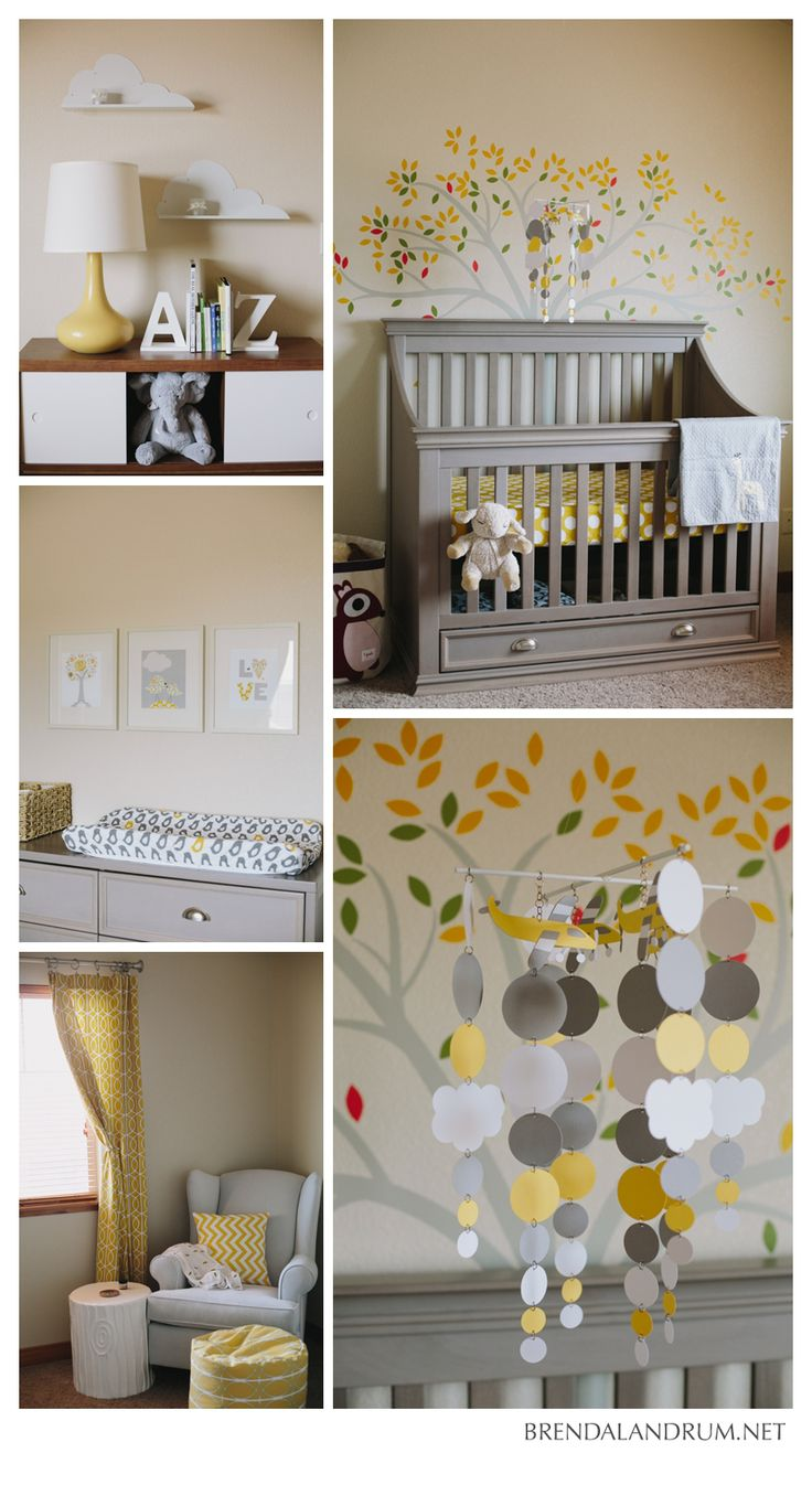 Little Boy Gray And Yellow Nursery Photographed By Brenda Landrum Photographer