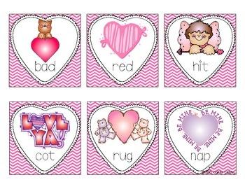 Valentines Real/Nonsense Word Sort Freebie!!