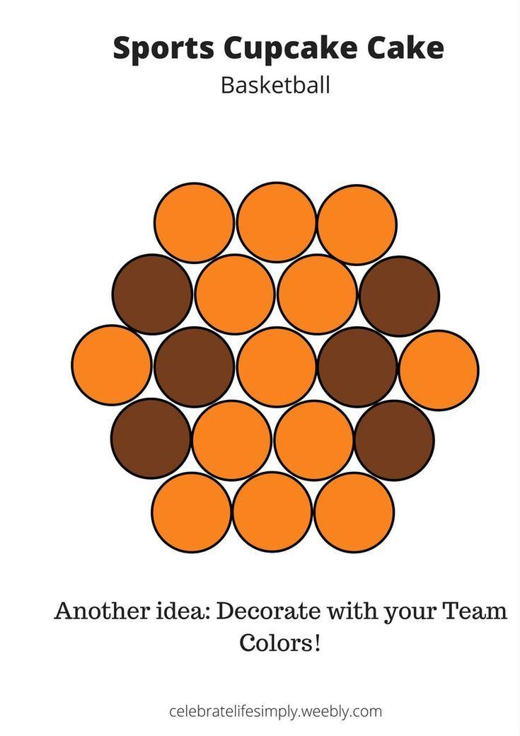 Basketball Sports Pull-Apart Cupcake Cake Templates   FREE   Visit my blog for dozens more! (scheduled via http://www.tailwindapp.com?utm_source=pinterest&utm_medium=twpin)