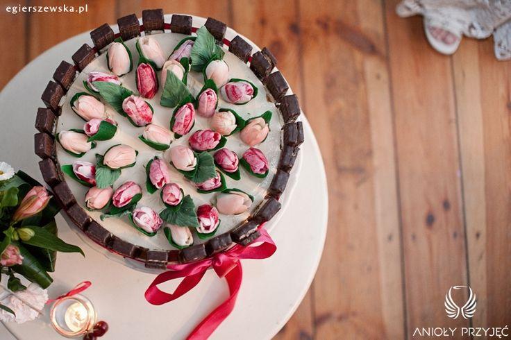 14. Cherry Wedding,Wedding cake  / Czereśniowe wesele,Tort ślubny,Anioły Przyjęć