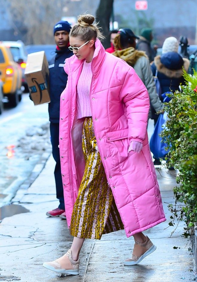 34a3d2241 If Gigi's Pink Puffer Is Giving You Coat Envy, Not to Worry—We Found ...